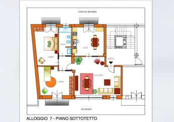 Appartamento quadrilocale ultimo piano