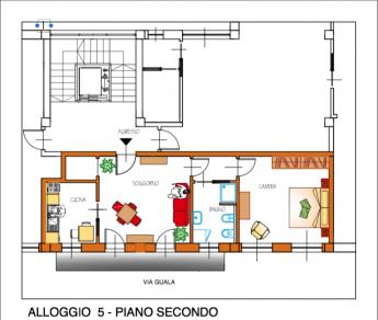 Appartamento trilocale a Caluso 2ndo piano