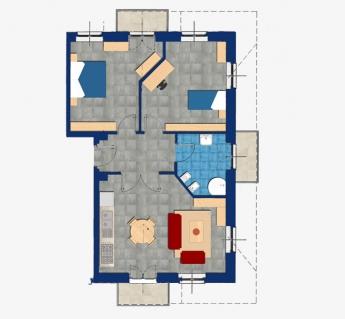Luminoso Trilocale mansardato di 90 mq totali con 3 camere, bagno, 3 balconi, cantina e garage