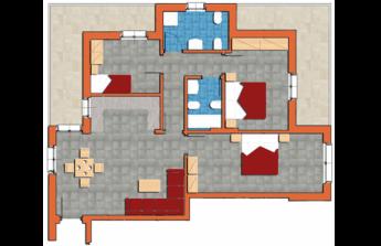 Quadrilocale 124mq con 2 bagni, 3 balconi, cantina e garage