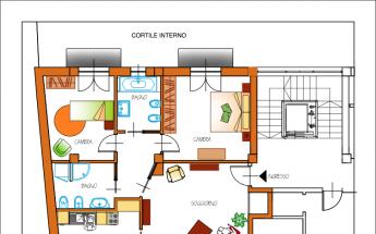 Appartamento quadrilocale con due Bagni a Caluso