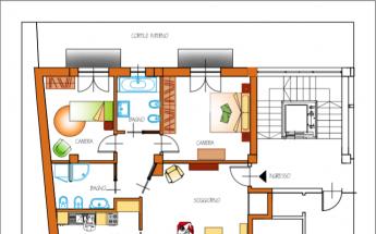 Appartamento quadrilocale con due Bagni a Caluso 2ndo piano