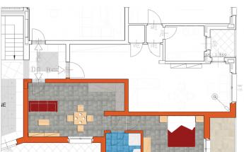 Bilocale 55mq con living, cucina e camera