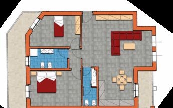 Trilocali 110mq con 2 bagni, cantina e garage